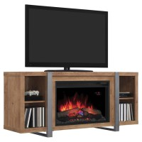 "Oak Media Mantel with Electric 26"" Fireplace | RONA"
