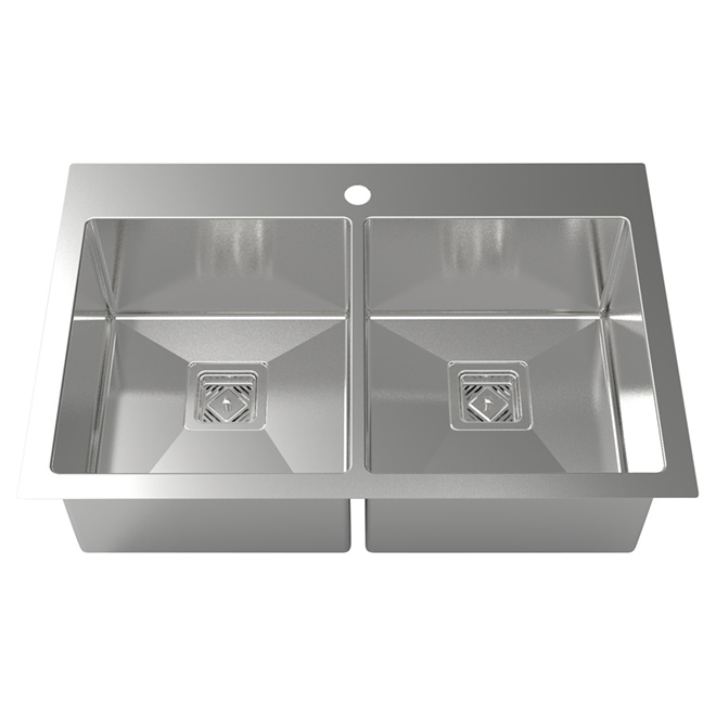 square kitchen sink cabinets handles odyssey 30 5 x 19 68 stainless steel
