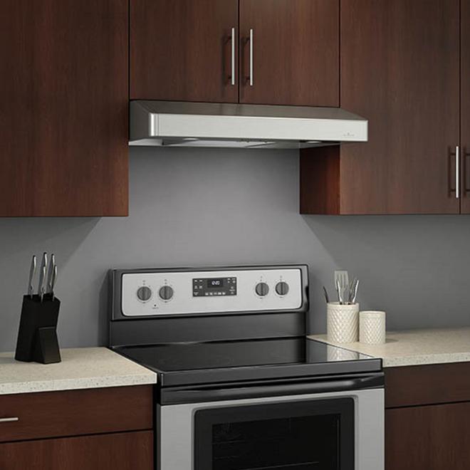 venmar bistro undercabinet range hood 30 in 300 max cfm stainless steel