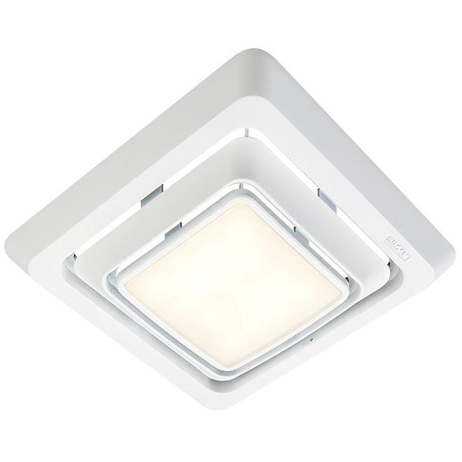 broan r bathroom fan grille led light white