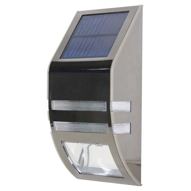 solar led wall sconce light 2 leds 2 2 pack