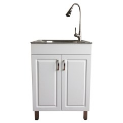 Kitchen Sink Cabinets Free Standing Pantries Westinghouse Laundry With Cabinet Flat White Ql045 Rona