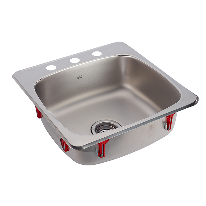 3 hole single sink stainless steel 20 x 20 x 7