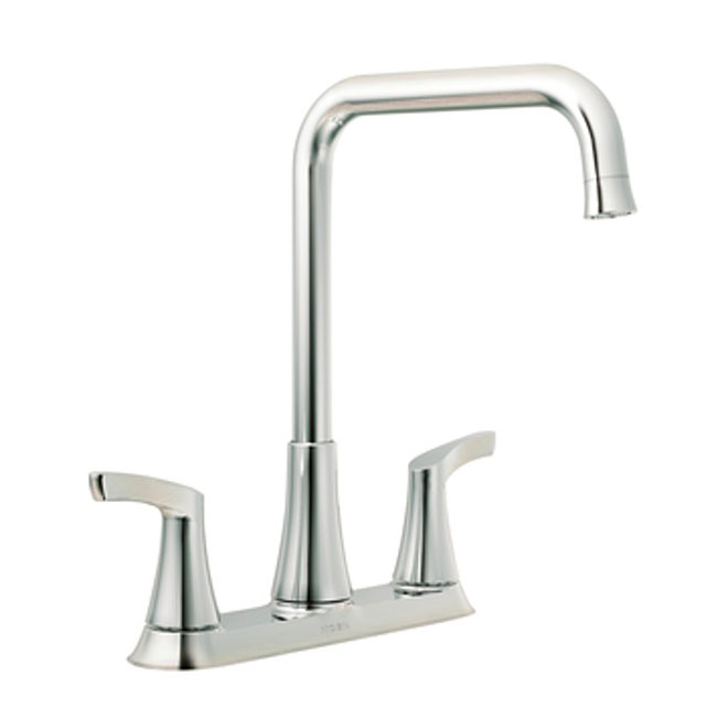 two handle kitchen faucet natural gas stove moen danika 2 87633 rona