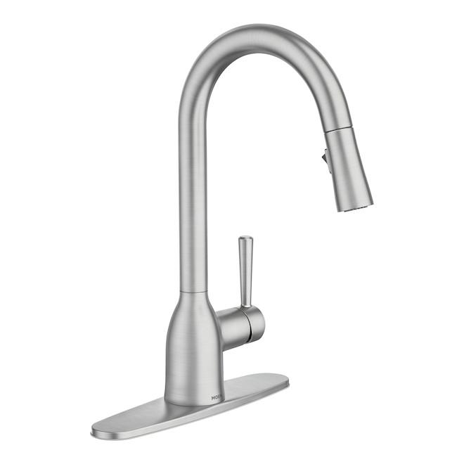 moen adler pull down kitchen faucet 14 56 in spot resistant stainless steel