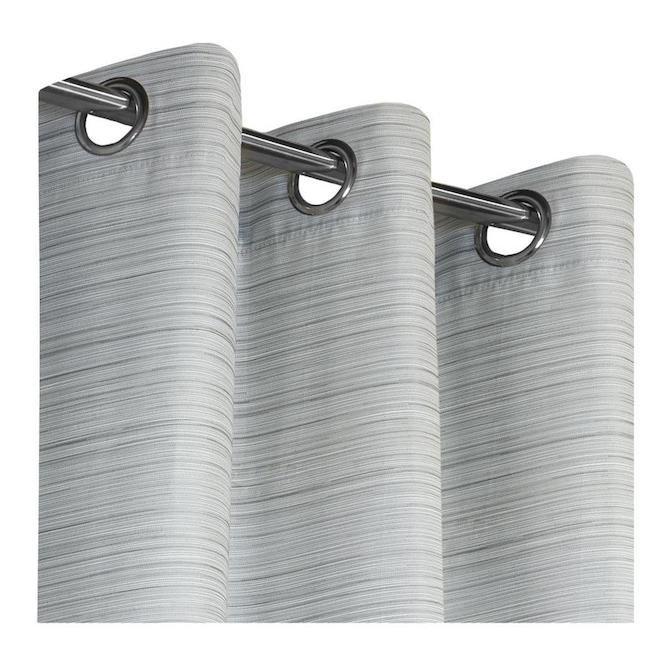 safdie co blackout curtain panels jacquard 54 in x 84 in charcoal set of 2