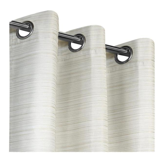 safdie co blackout curtain panels jacquard 54 in x 84 in natural taupe set of 2