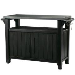 Outdoor Kitchen Storage Cart Green Apple Decor Keter Stainless Steel Top Grey 50 17202662g Rona