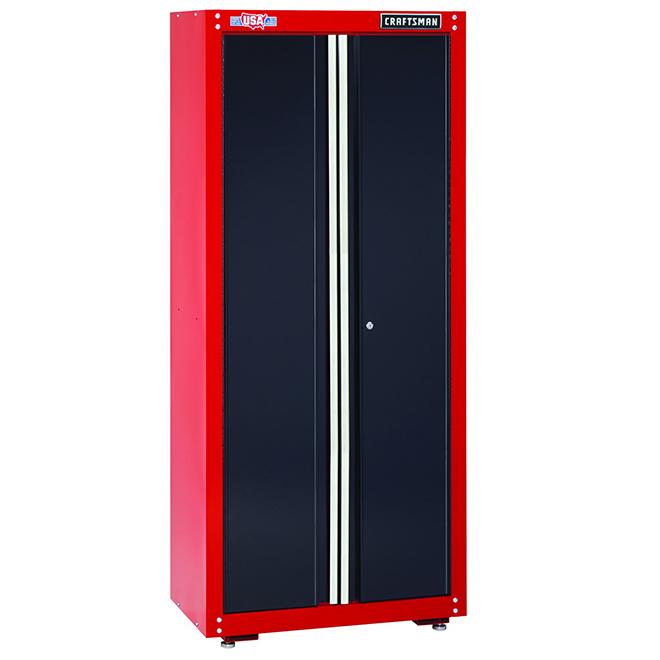 armoire de rangement pour le garage 74 rouge et noir