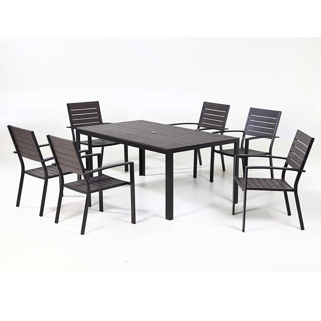 allen roth kirkwood 7 piece outdoor dining set grey