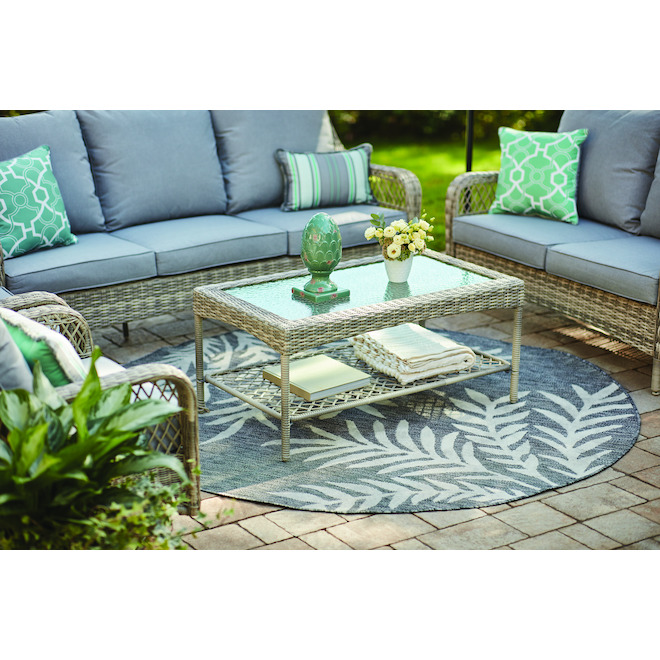 allen roth parkview patio sofa 3 seats 81 5 in grey