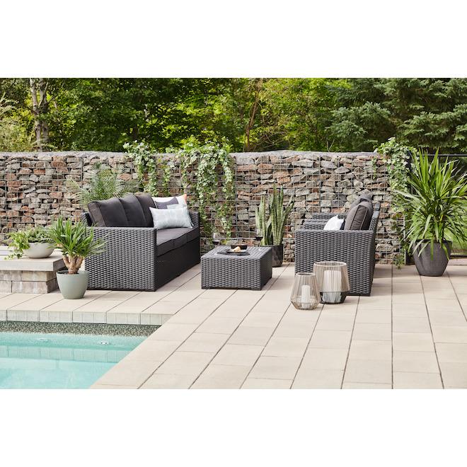 allen roth kelso outdoor furniture set 5 pieces black