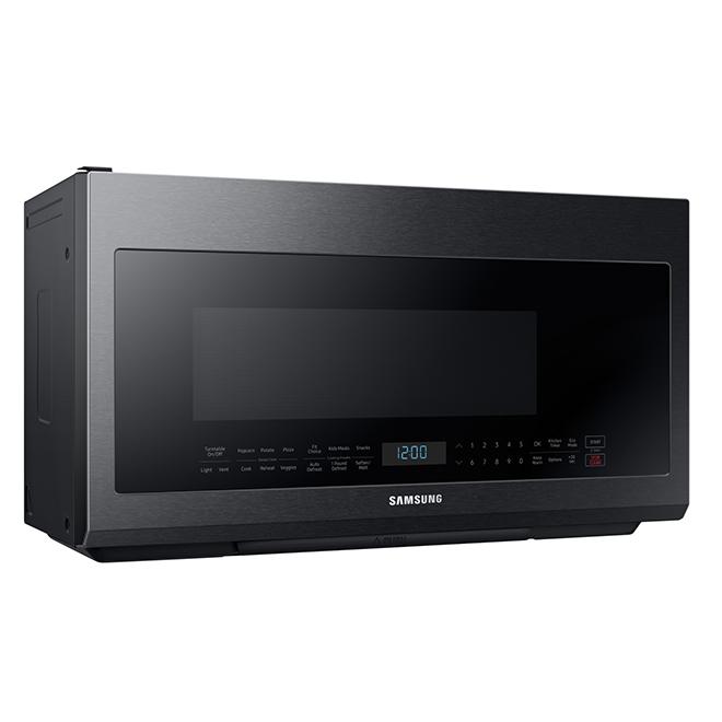 over the range microwave 2 1 cu ft 950w black s steel