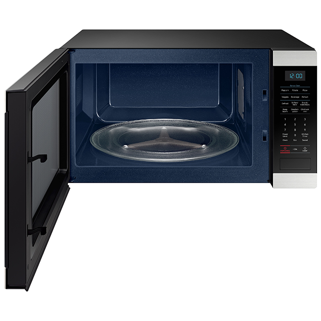 samsung microwave oven counter 1 9 cu ft stainless