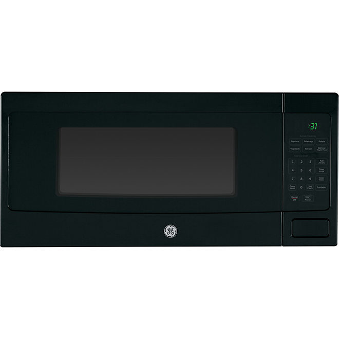 https www rona ca en ge profile countertop microwave oven 800 w 11 cu ft black pem10bfc 23085475
