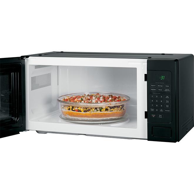 ge profile countertop microwave oven 800 w 1 1 cu ft black