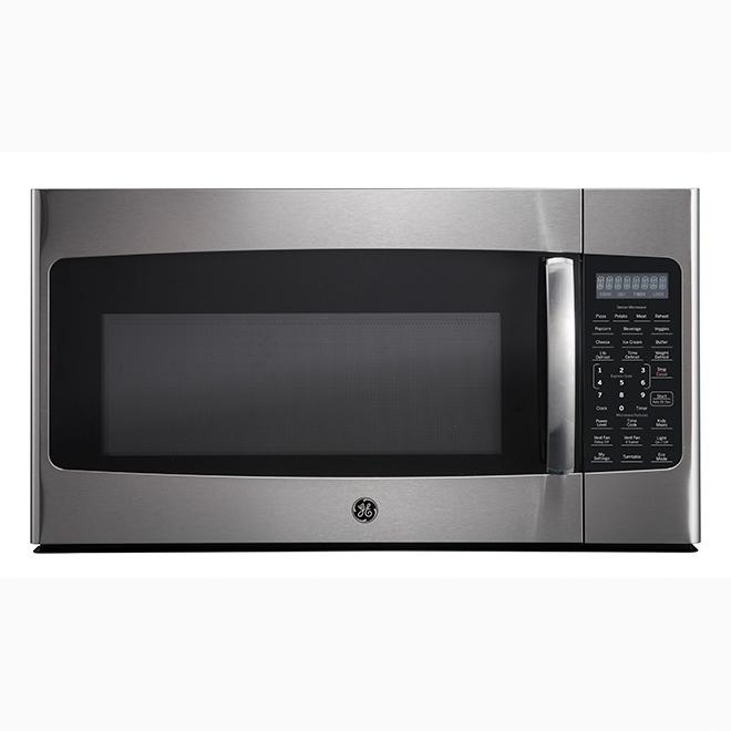 ge microwave range hood 1 8 cu ft 400 cfm stainless