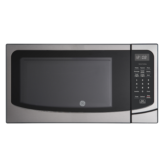 ge appliances microwave oven 10 power levels 1100 w 1 6 cu ft stainless steel