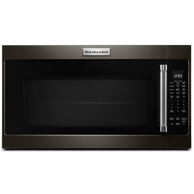 kitchenaid over the range microwave 2 0 cu ft black steel