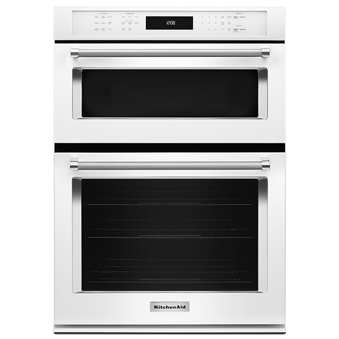 kitchenaid r electric wall oven combination 30 white