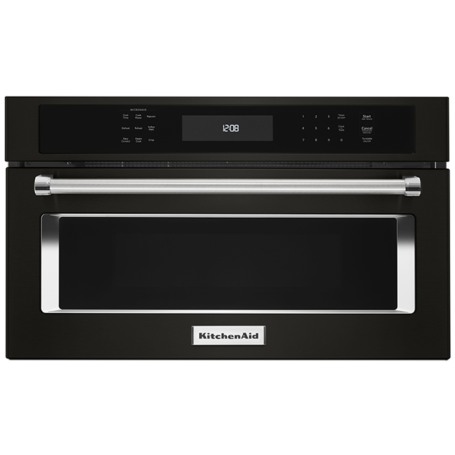 built in microwave and convection oven 27 black ss