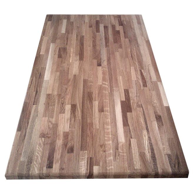 comptoir en bois d acacia jointe 25 1 2 x 72 naturel