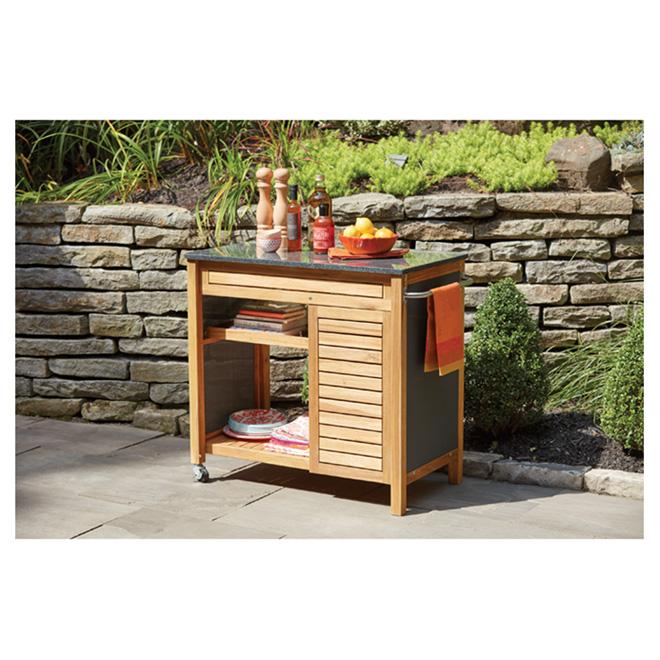 patio kitchen 6 person table cart sao paulo acacia black 41 965 rona