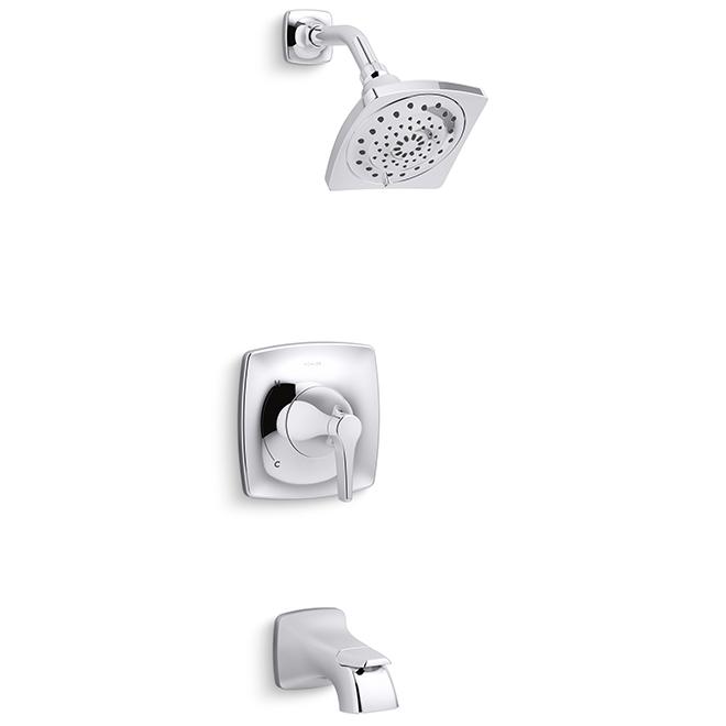 maxton tub and shower set 1 handle polished chrome