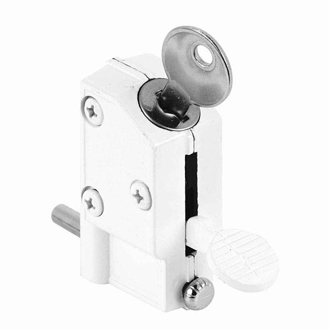 patio door keyed lock 1 4 bolt die cast white