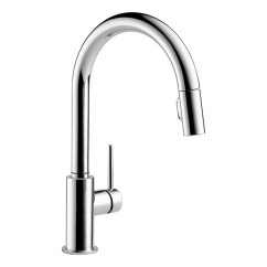 Chrome Kitchen Faucet Marielle Delta Trinsic Pull Down 9159 Dst Cdn Rona