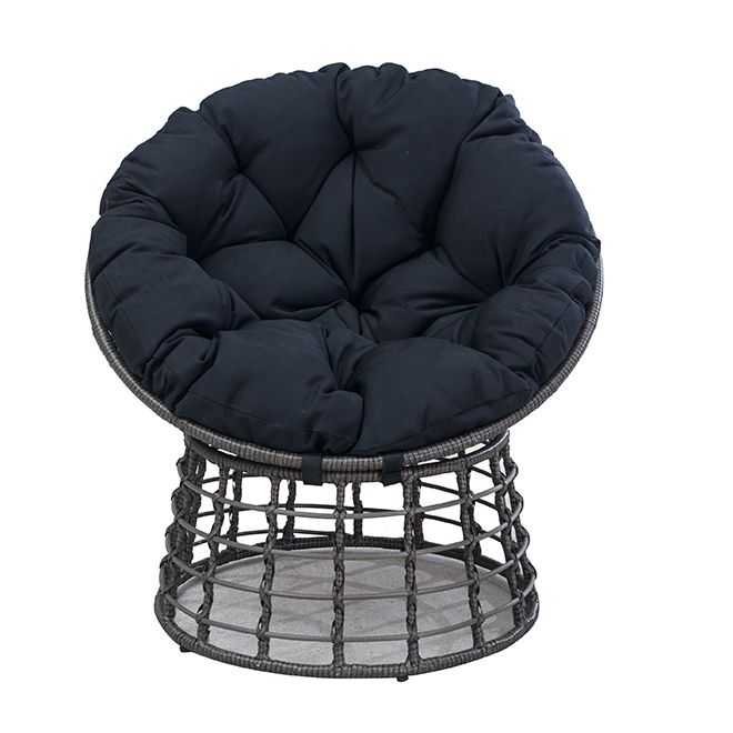 chaise de patio papasan bombay noir