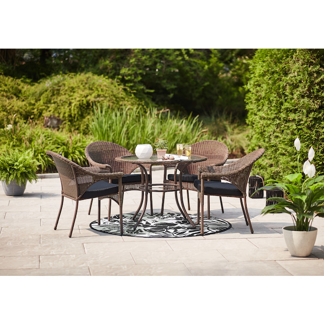 spruce hills patio dining table round tempered glass 39 1 2