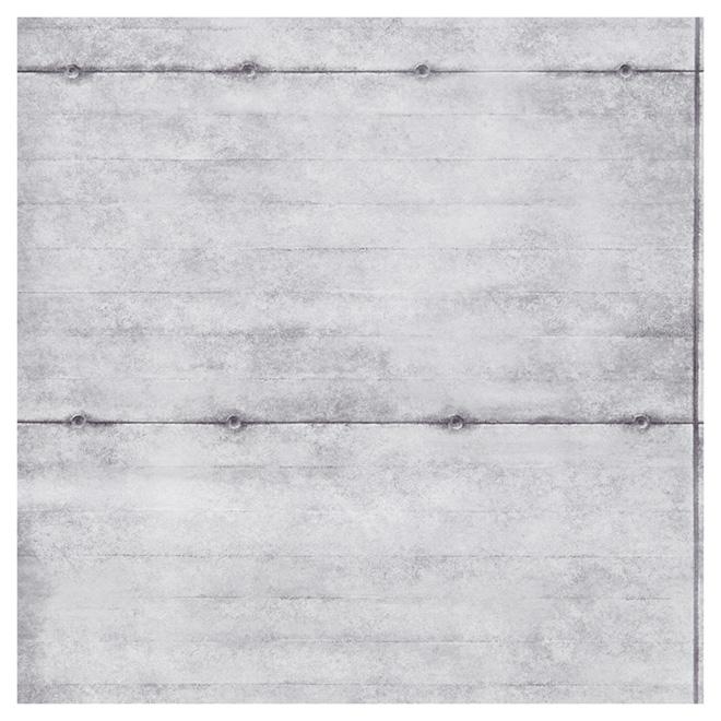 papier peint allure blocs de beton 20 5 x 33 gris blanc