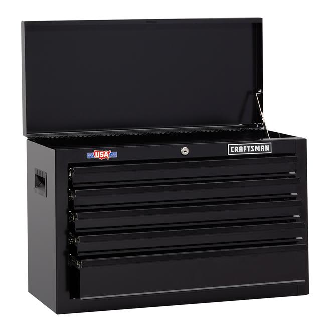 coffre a outils avec capot 26 5 tiroirs noir