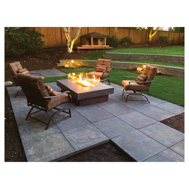 patio slab 24 x 24 charcoal