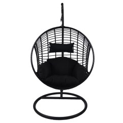 Hanging Chair Swing Dining Covers Canada Dura With Stand Sao Paulo Black 3263 Rona