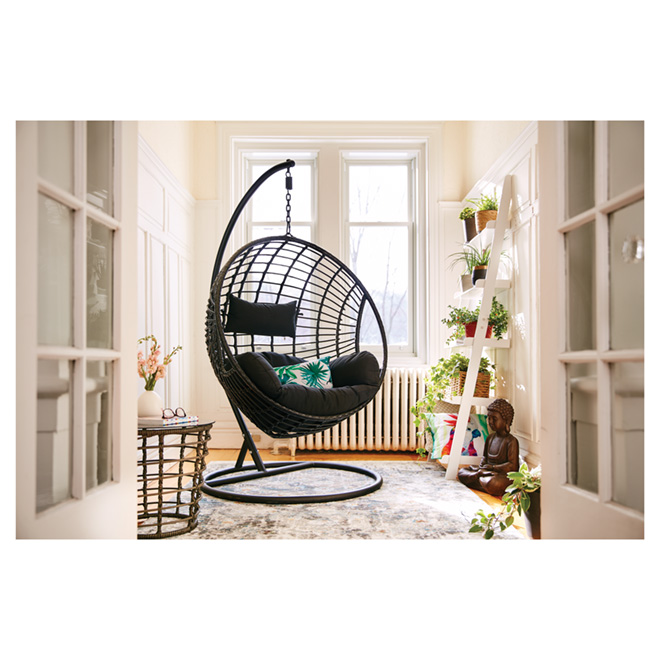swing chair pics most comfortable folding dura hanging with stand sao paulo black 3263 rona