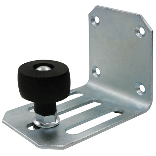 guide de retenue avec roue pour porte coulissante simple