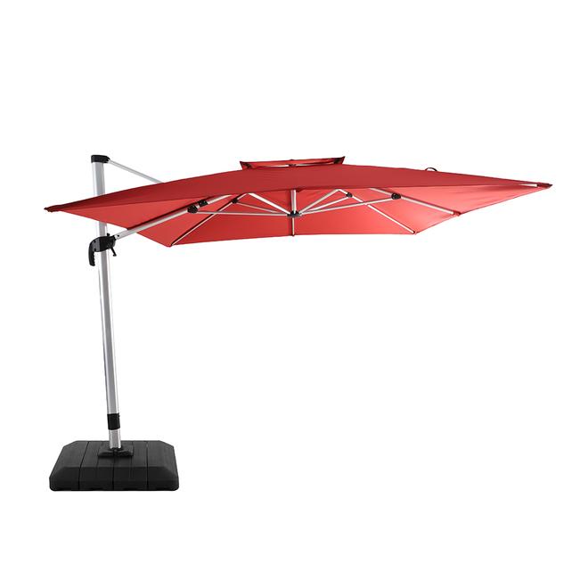 allen roth offset umbrella 10 ft x 12 ft red