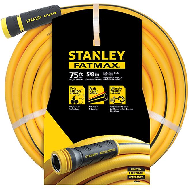 STANLEY Boyau d'arrosage professionnel en PVC. 75'. jaune BDS6651 | RONA