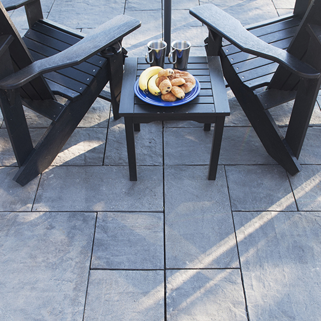 patio drummond slate style patio stone 12 in x 24 in grey pa1224 rona