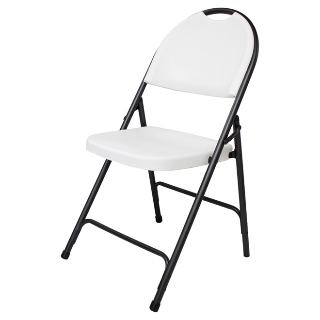 chaise pliante resine blanc