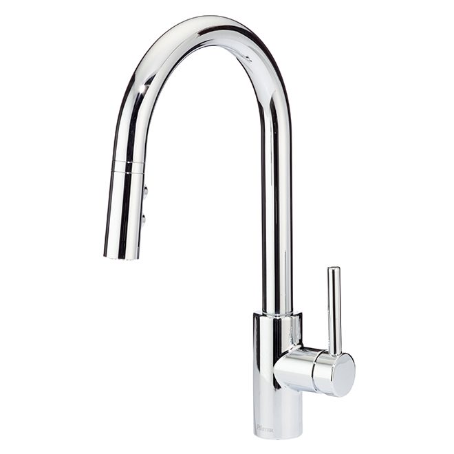 chrome kitchen faucet tall table pfister fullerton pull down polished f5297ftc rona