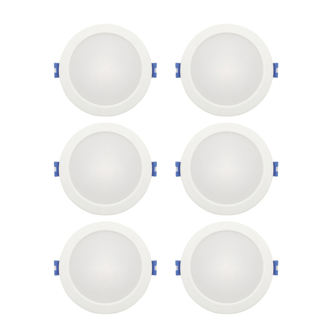leadvision recessed dimmable lights slim led 4 in 10 w white 6 pack