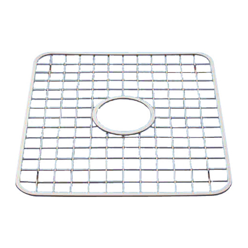 sink grid with hole polished stainless steel