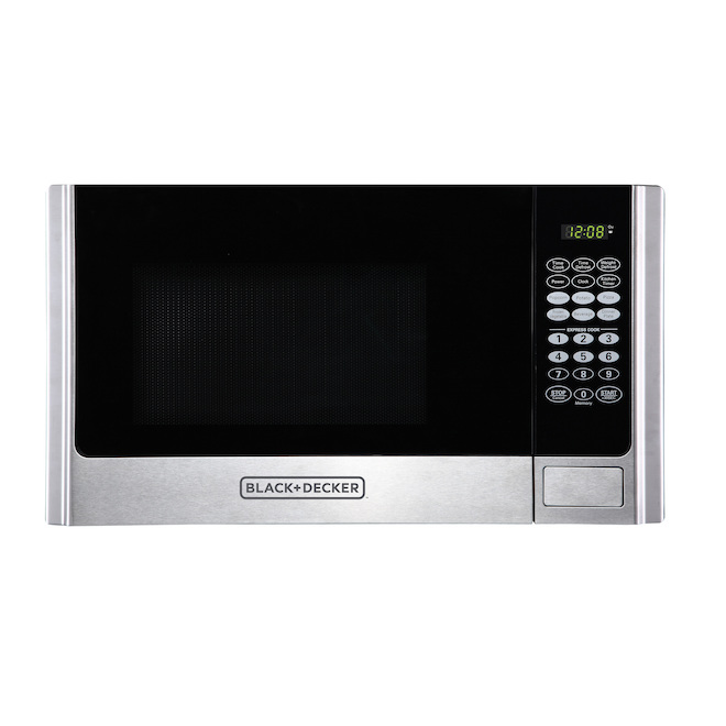 black and decker microwave oven with touch screen 0 9 cu ft 900 w stainless steel