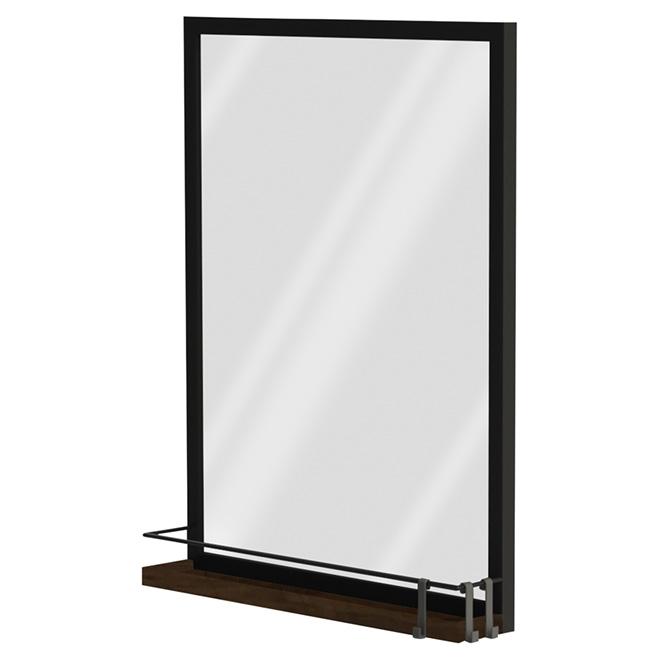 Ove Decors Miroir Avec Tablette Noir Brillant Rona