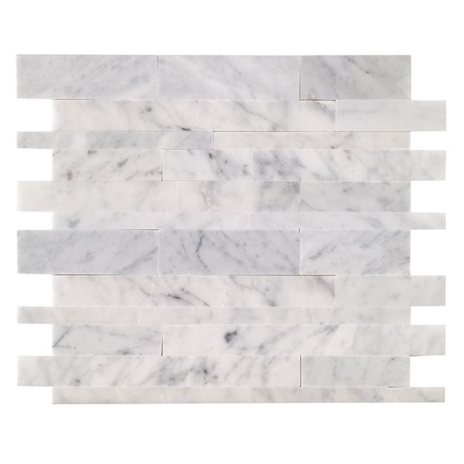 siberia self adhesive marble tiles 12 box white grey