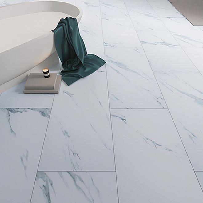 mono serra vinyl tile marble 12 x 24 carrara