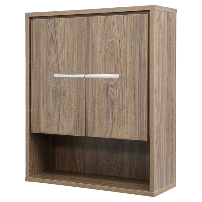 Foremost Armoire Murale Carlington 2 Portes 2 Tablettes Noyer Crnwc2428 Rona